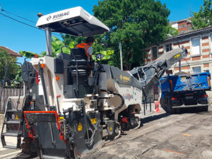 Chantier Bordeaux BOMAG BM1000